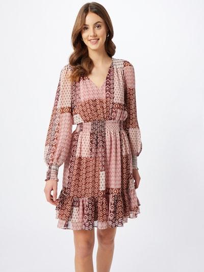 mbym Kleid 'Maddalena' in rosa / rot / weiß, Modelansicht