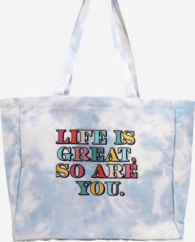 ABOUT YOU x Laura Giurcanu Shopper 'Phoebe' in de kleur Blauw / Wit, Productweergave