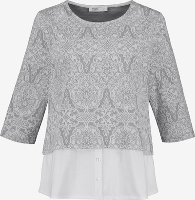 Ulla Popken Sweatshirt in grau / weiß, Produktansicht