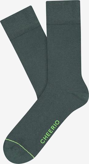 CHEERIO* Chaussettes 'BEST FRIEND' en vert foncé, Vue avec produit