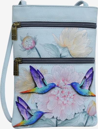 ANUSCHKA Umhängetasche Rainbow Birds (handbemaltes Leder) in hellblau / mischfarben, Produktansicht