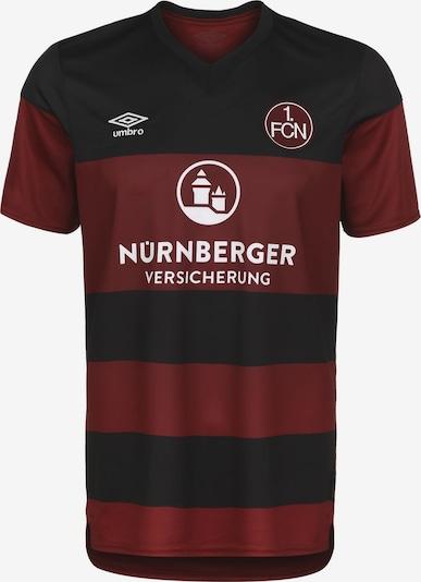 UMBRO Tricot '1. FC Nürnberg' in de kleur Rood / Zwart / Wit, Productweergave
