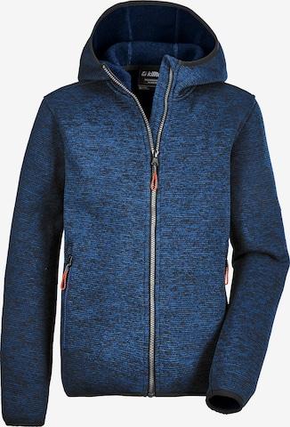 KILLTEC Knit Cardigan 'Kow' in Blue