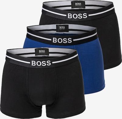 BOSS Casual Boxers en bleu roi / noir / blanc, Vue avec produit