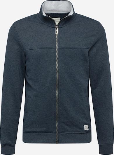 TOM TAILOR Sweatjacke in dunkelblau / weiß, Produktansicht