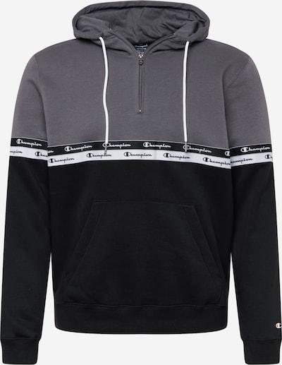 Champion Authentic Athletic Apparel Sweat-shirt en gris / noir / blanc, Vue avec produit