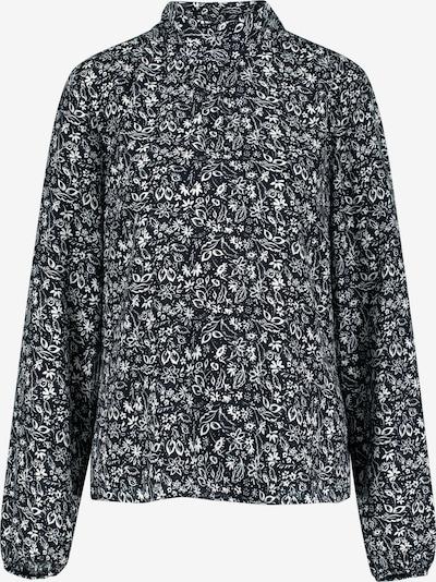 ONE MORE STORY Bluse mit floralen Druck in schwarz / offwhite, Produktansicht