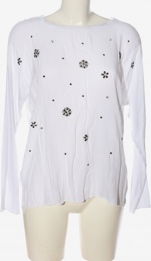 Tredy Langarm-Bluse in S in silber / weiß, Produktansicht