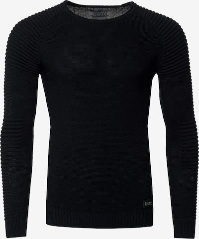 Rusty Neal Figurbetonter Feinstrick Pullover in schwarz, Produktansicht