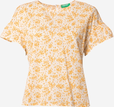 UNITED COLORS OF BENETTON Pusero värissä keltainen / valkoinen, Tuotenäkymä