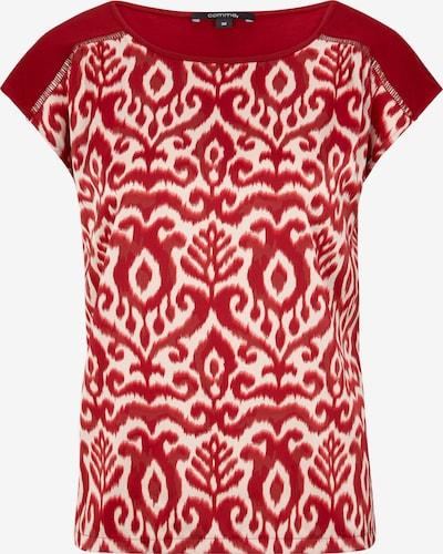 COMMA Shirt in dunkelrot / weiß, Produktansicht