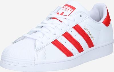 ADIDAS ORIGINALS Sneaker 'Superstar' in rot / weiß, Produktansicht
