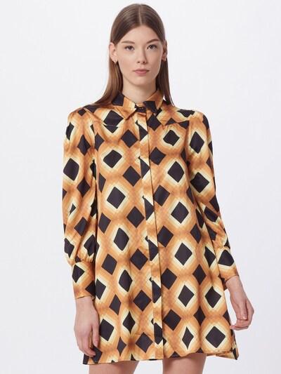 GLAMOROUS Kleid in cappuccino / hellbraun / dunkelbraun, Modelansicht