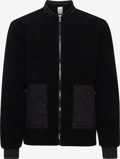!Solid Fake Fur Jacke in schwarz, Produktansicht
