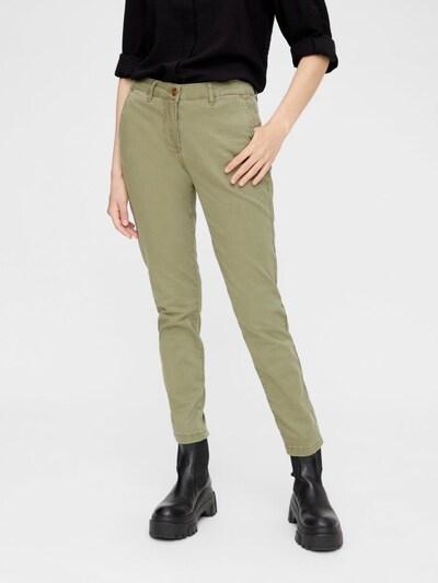 PIECES Chinohose in grün, Modelansicht
