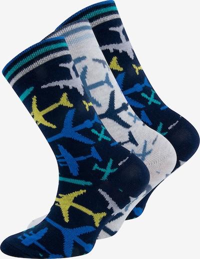 EWERS Sokken in de kleur Blauw / Turquoise / Nachtblauw / Lichtgrijs / Gemengde kleuren, Productweergave