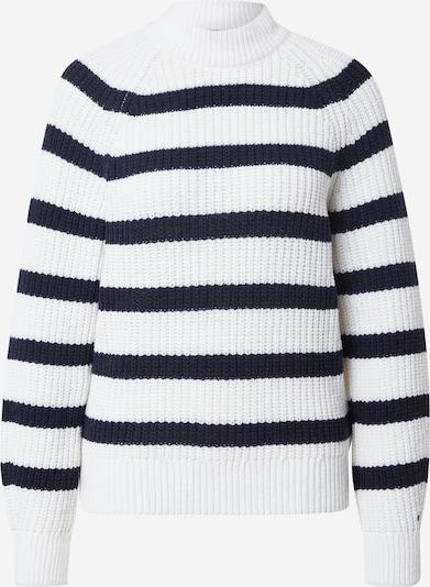 TOMMY HILFIGER Pullover in dunkelblau / weiß, Produktansicht