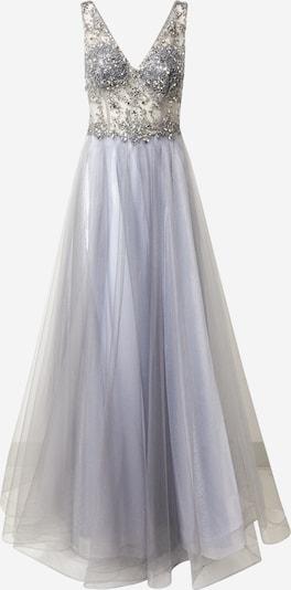Unique Abendkleid in taubenblau, Produktansicht
