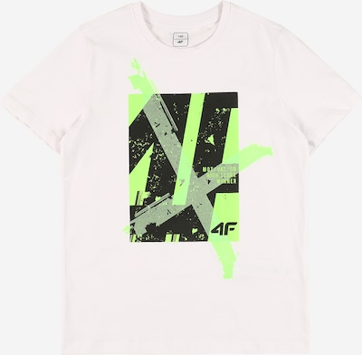 4F Sportshirt in hellgrau / grün / schwarz / weiß, Produktansicht