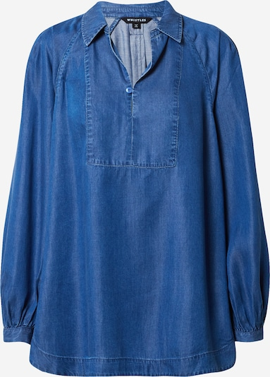 Whistles Blouse 'CHAMBRAY' in de kleur Royal blue/koningsblauw, Productweergave