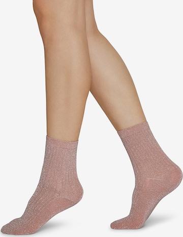 Swedish Stockings Socken 'Stella shimmery' in Pink