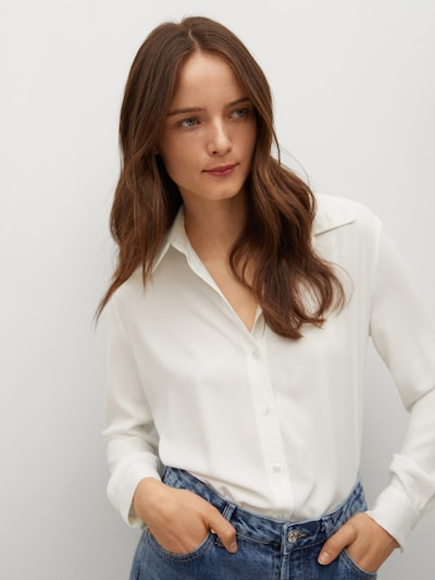 MANGO Blouse in de kleur Wit, Modelweergave