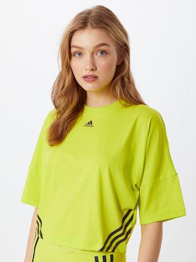 ADIDAS PERFORMANCE Tehnička sportska majica u neonsko žuta / crna: Prednji pogled