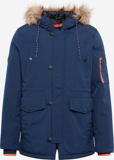 INDICODE JEANS Winterjas 'Laek' in de kleur Navy / Lichtbruin / Lichtoranje, Productweergave