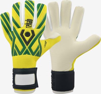 Rehab Torwarthandschuh in gelb / grün / schwarz / weiß, Produktansicht