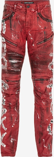 CIPO & BAXX Jeans 'CB STRANGE' in de kleur Rood, Productweergave