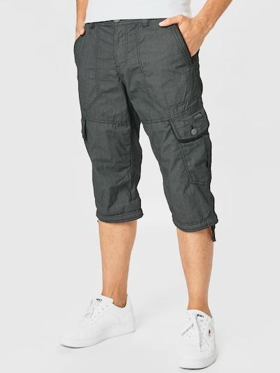 TOM TAILOR Pantalon cargo en noir: Vue de face