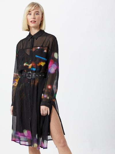 DIESEL Košulja haljina 'NANCY' u miks boja / crna: Prednji pogled