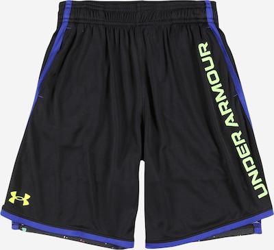 UNDER ARMOUR Pantalon de sport 'Stunt 3.0 PRTD' en bleu roi / vert fluo / noir, Vue avec produit