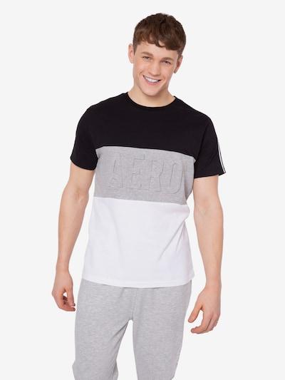 AÈROPOSTALE Camiseta en gris moteado / negro / blanco: Vista frontal