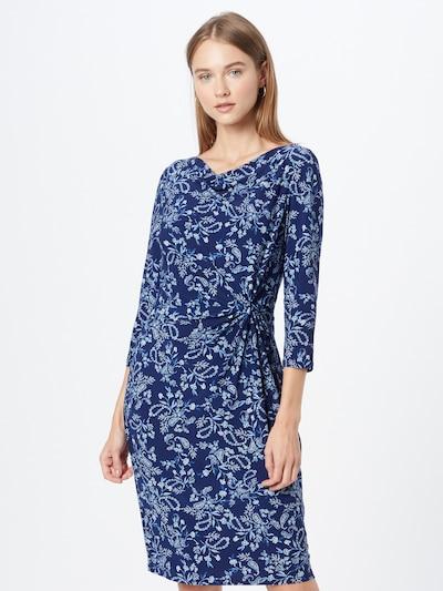 Lauren Ralph Lauren Kleid 'Trava' in royalblau / hellblau / dunkelblau / weiß, Modelansicht
