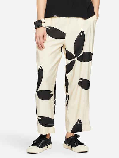 Masai Pants in Cream / Black, View model