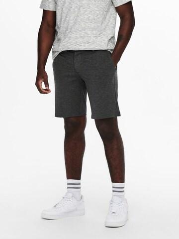 Pantaloni chino 'Mark' di Only & Sons in grigio