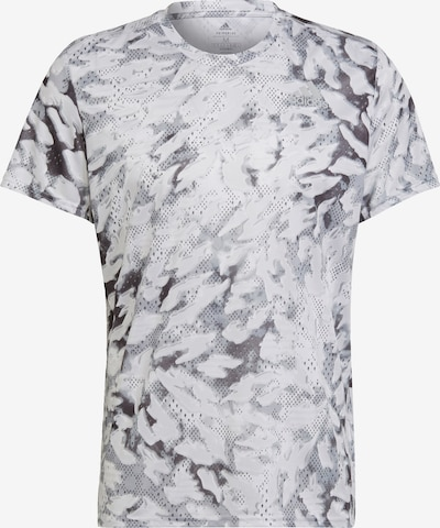 ADIDAS PERFORMANCE Funkcionalna majica | antracit / svetlo siva / bela barva, Prikaz izdelka