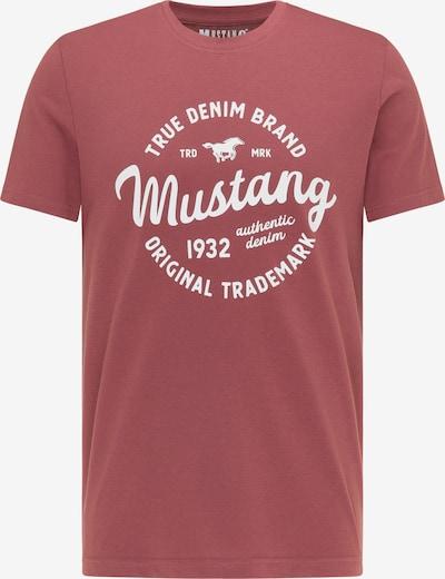 MUSTANG Shirt 'Alex' in rot / weiß, Produktansicht