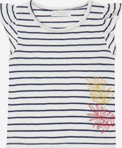 Sense Organics T-Shirt in dunkelblau / mischfarben / weiß, Produktansicht