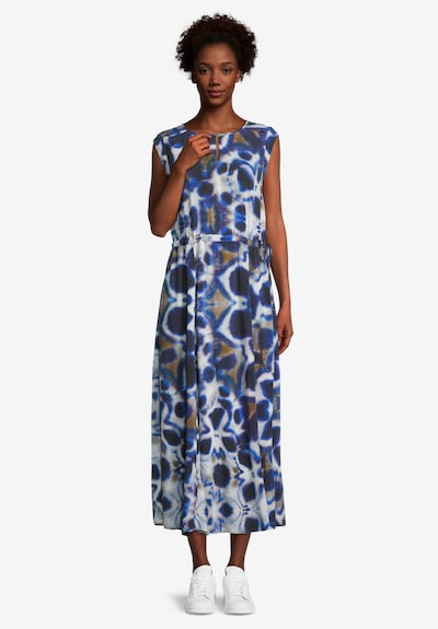 Cartoon Sommerkleid mit Muster in dunkelblau / weiß, Modelansicht