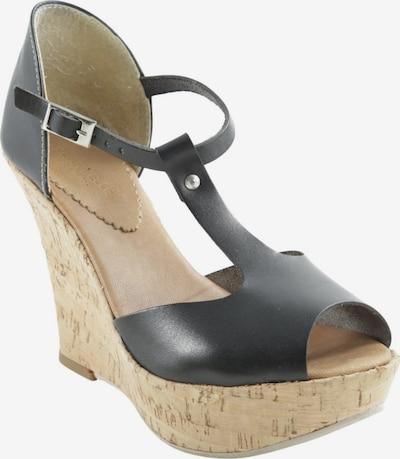 Vera Pelle Wedges Sandaletten in 37 in sand / schwarz, Produktansicht