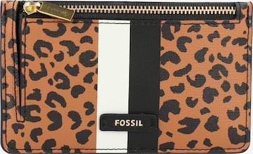 FOSSIL Key Ring 'Logan' in Brown