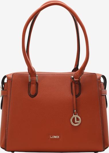 L.CREDI Shopper 'Filippa' in kastanienbraun / rostbraun / hellbraun / rot, Produktansicht