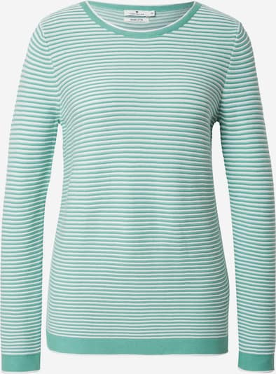 TOM TAILOR Pullover in mint / weiß, Produktansicht