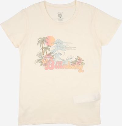 BILLABONG Camiseta funcional 'VINTAGE POSTCARD' en azul claro / verde hierba / naranja / rosa pastel / blanco, Vista del producto