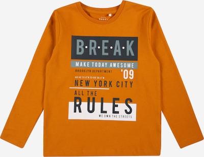NAME IT Shirt 'VUX' in de kleur Pastelblauw / Donkeroranje / Zwart / Wit, Productweergave