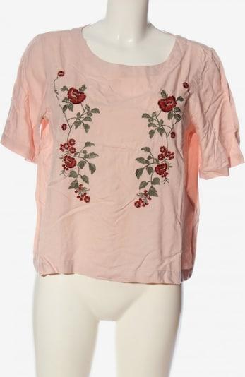 Pigalle Kurzarm-Bluse in S in grün / pink / rot, Produktansicht