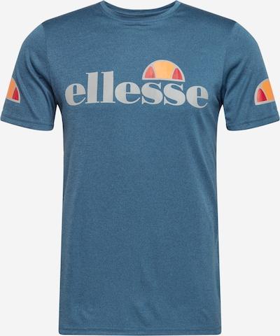 ELLESSE Functioneel shirt 'Pozzio' in de kleur Blauw gemêleerd / Lichtgrijs / Sinaasappel / Lichtrood / Wit, Productweergave