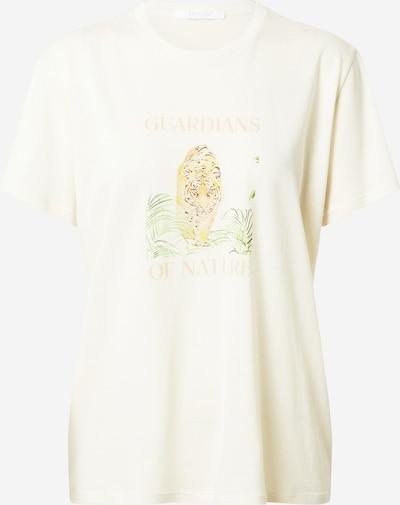 Boyish T-shirt 'LENNON' en brun foncé / olive / orange / orange pastel / blanc, Vue avec produit